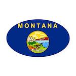 Montana.jpg Oval Car Magnet