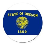 Oregon.jpg Round Car Magnet