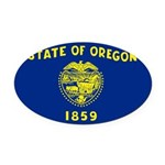 Oregon.jpg Oval Car Magnet
