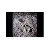 Apollo 11 Bootprint Rectangle Magnet