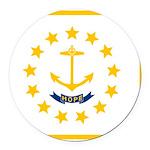 Rhode Island.jpg Round Car Magnet