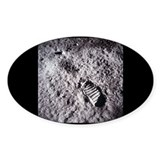 Apollo 11 Bootprint Oval Decal