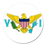 U.S. Virgin Islands.jpg Round Car Magnet