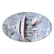 Gazebo surround by snow 11 Decal