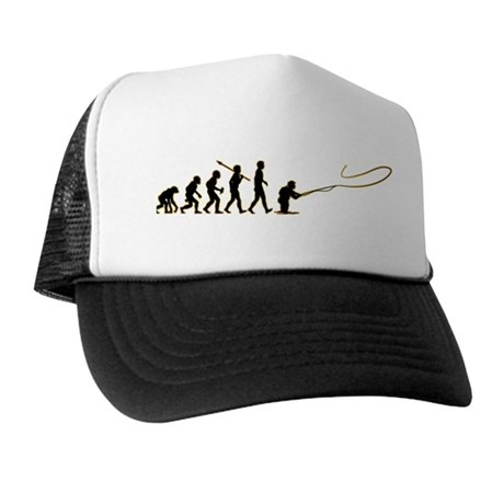 Fly fishing trucker hat by apestoman for Fly fishing hat