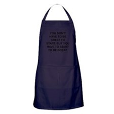 To Be Great Apron (dark)