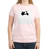 mod scooter Women's Pink T-Shirt