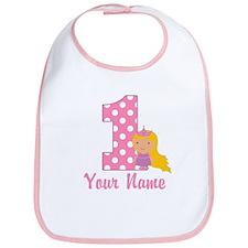 1st Birthday Princess 2 Bib