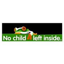 No Child Left Inside Bumper Bumper Sticker