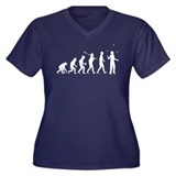 Juggling Women's Plus Size V-Neck Dark T-Shirt
