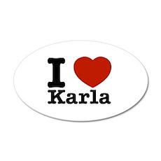 I Love Karla 35x21 Oval Wall Decal