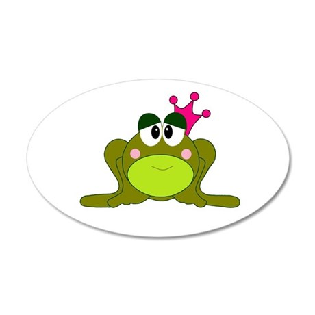 Frog Princess Pink Crown 35x21 Oval Wall Decal