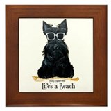 Scottie Beach Framed Tile