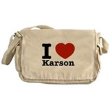 I Love Karson Messenger Bag