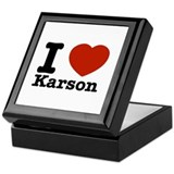I Love Karson Keepsake Box