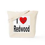 I Love Redwood Tote Bag