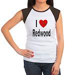 I Love Redwood (Front) Women's Cap Sleeve T-Shirt