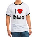 I Love Redwood (Front) Ringer T