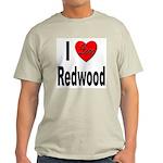 I Love Redwood (Front) Ash Grey T-Shirt