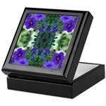 Blue Flower Reflection Keepsake Box