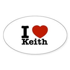 I Love Keith Decal