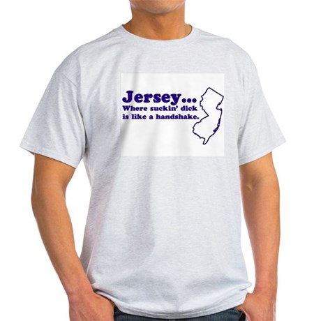 Jersey Sucking Dick Ash Grey T-Shirt