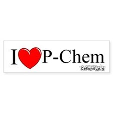 I Love P-Chem Bumper Bumper Sticker