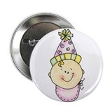 Baby's Birthday Button (girl)