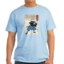 Miyamoto Musashi Two Swords Ash Grey T-Shirt