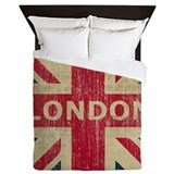 Vintage london Queen Duvet Covers