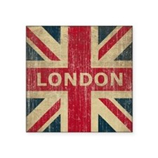 "Vintage London Square Sticker 3"" x 3"""