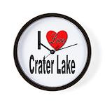 I Love Crater Lake Wall Clock