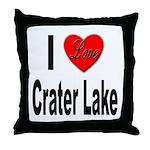 I Love Crater Lake Throw Pillow