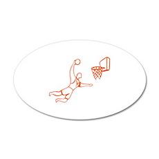 Basketball 38.5 x 24.5 Oval Wall Peel