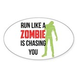 Run like zombie is chasing you Decal