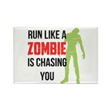 Run like zombie is chasing you Rectangle Magnet