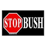 Stop Bush Rectangle Sticker