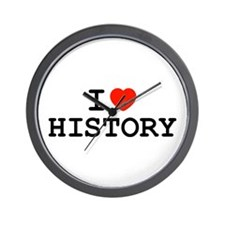 I Heart History Wall Clock