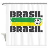 Brazil Soccer Shower Curtain