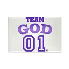 Team God Rectangle Magnet