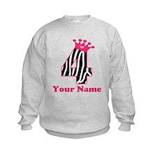 4th Birthday Zebra Sweatshirt