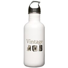 Vintage-Tan and Black Water Bottle