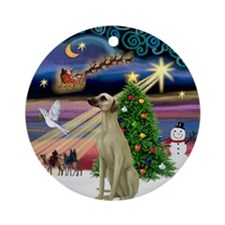 Xmas Magic & Sloughi Ornament (Round)