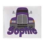 Trucker Sophie Throw Blanket