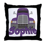 Trucker Sophie Throw Pillow