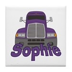 Trucker Sophie Tile Coaster