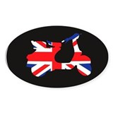 uk mod scooter Oval Decal