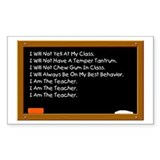 I Am The Teacher Rectangle Decal