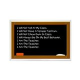 I Am The Teacher Rectangle Magnet (10 pack)