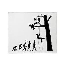 Tree Climbing Throw Blanket